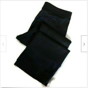 Cache black satin like slacks pants size 8